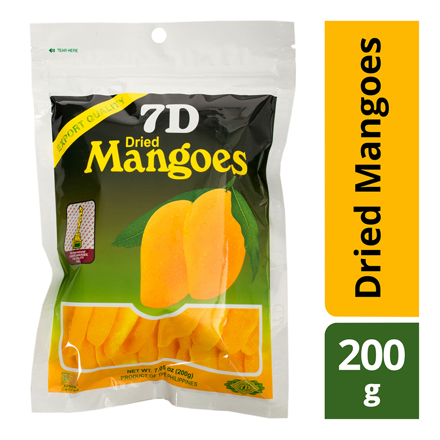 7D Dried Mangoes , Cebu 7D Dried Mangoes ( 200 grams) の画像