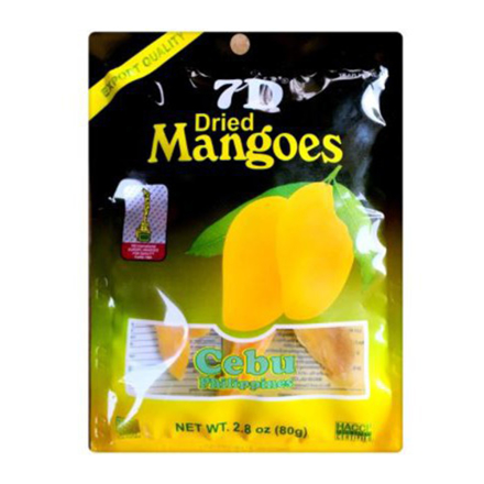 7D Dried Mangoes , Cebu 7D Dried Mangoes ( 80 grams) の画像