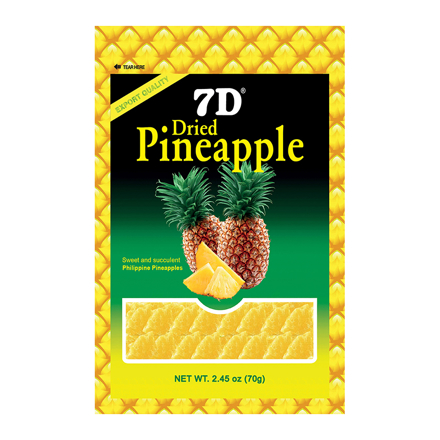 7D Dried Pineapple (70g /Pack) の画像
