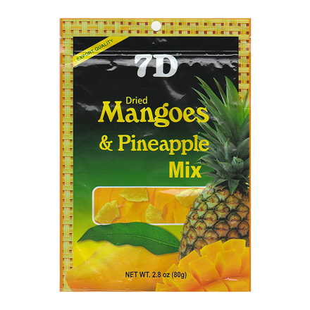 7D Dried Mangoes & Pineapple Mix , ( 80 grams /pack) の画像