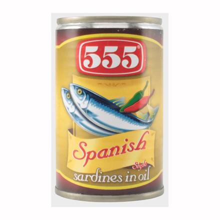 555 Sardines Spanish Style 155g の画像