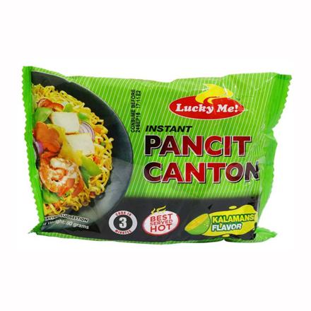 Lucky Me Pancit Canton Kalamansi Flavor 80g の画像