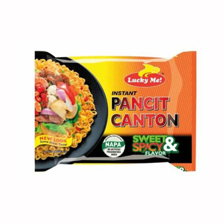 Lucky Me Pancit Canton Sweet & Spicy  Flavor 80g の画像