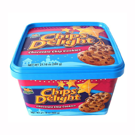 Chips Delight Chocolate Chip Cookies Tub 600g の画像