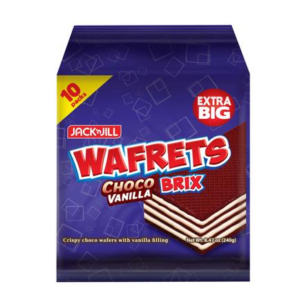 JACK 'N JILL Wafrets Brix Choco Vanilla 10s (24g x 10) の画像