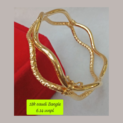 Picture of 18K - Saudi Gold Bangle -  SB6.14G1