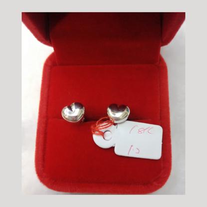 Picture of 18K - Saudi White Gold Earrings 1.2g- SE12G