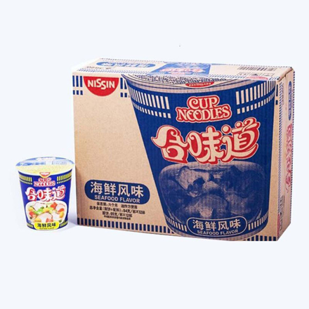 Cup Noodles Seafood Flavor (12 cup/box) の画像