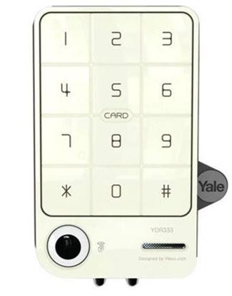 Picture of Yale Digital Door Lock with PIN Code & RF Card Key (Rim Lock) - YDR 333