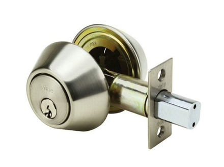 Yale Deadbolt Double Cylinder Satin Stainless Steel の画像
