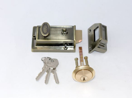 Yale Night Latch 60MM Antique Brass の画像