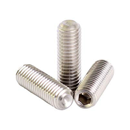 304 Stainless Steel Hex Allen Head Socket Set Screw Bolts with Internal Hex Drive, Allen Socket Set Screws, Metric Size From M2 to M14 の画像