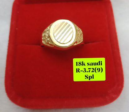 Picture of 18K Saudi Gold Ring, Size 9, 3.72g, 207R9372