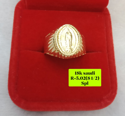 Picture of 18K Saudi Gold Ring, Size 8 1/2, 5.02g, 207R812502