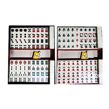 Solid One Piece Mahjong Set without Number, Ivory Color, U04MSWON の画像