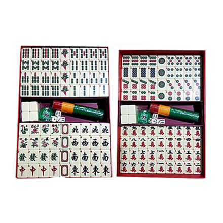 Solid One Piece Mahjong Set with Number, Ivory Color, U04MWN の画像