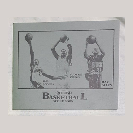 Small Official Basketball Score Book, U04SOBSB の画像