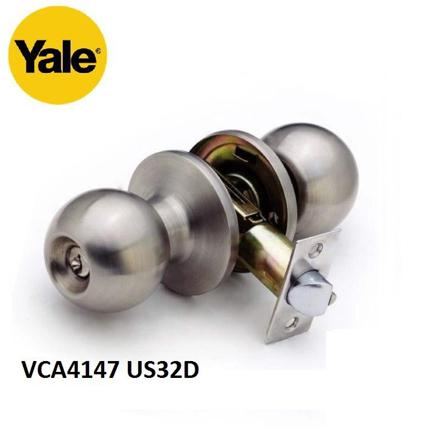 YALE VCA4147 US32D, VCA4147 US11, VCA4147 US5, Stainless Steel Cylindrical Knobset, VCA4147US32D の画像