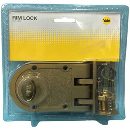 Yale V198GL,V198AB, Single Rim Lock Deadbolt, YV198AB の画像