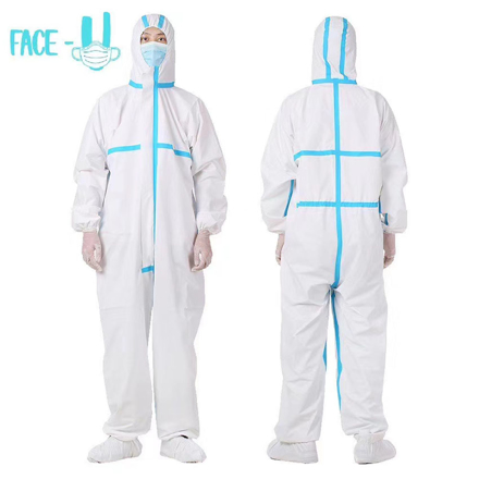PPE Cover all suit  ( Personal Protective Equipment)의 그림