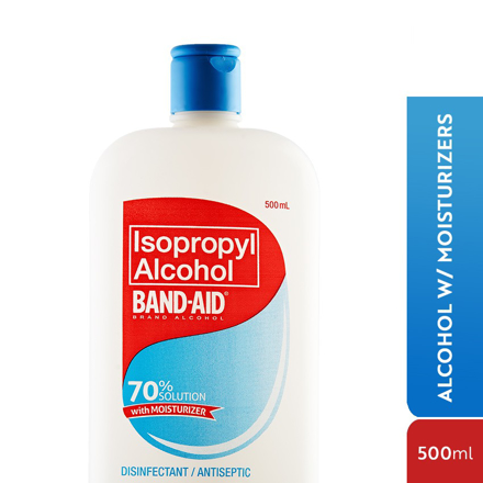 Band Aid Alcohol,Isopropyl Alcohol, 60% Cleaning Solution 500ml の画像