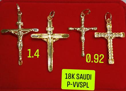 18K Saudi Gold Pendant, 0.92g, 1.4g, 2805PC2 の画像