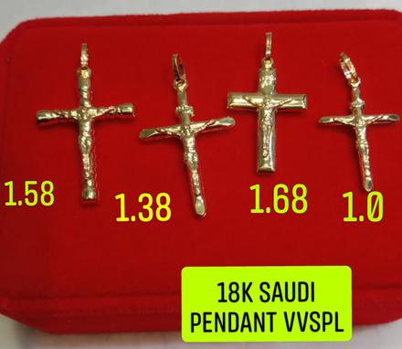 18K Saudi Gold Pendant, 1.0g, 1.38g, 1.58g, 1.68g, 2805PC4 の画像