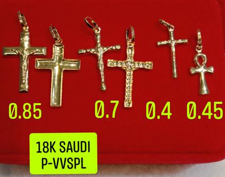 18K Saudi Gold Pendant, 0.4g, 0.45g, 0.7g, 0.85g, 2805PC42 の画像