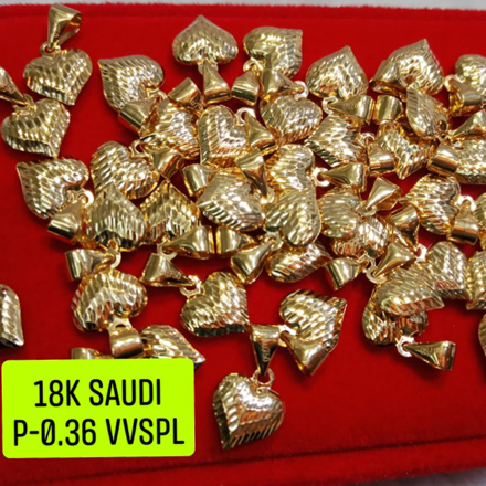 18K Saudi Gold Pendant, 0.36g, 2805PH の画像