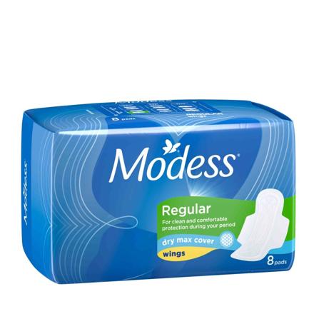 Modess Dry Max Max Sanitary Napkins 8s, MOD76 の画像