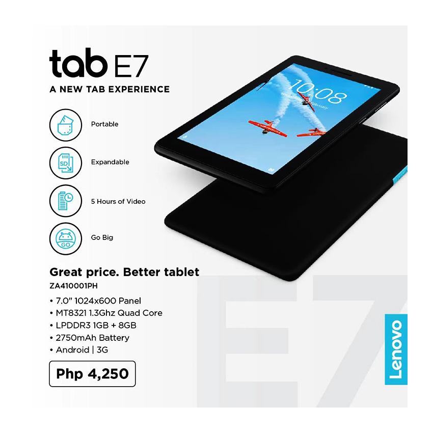 Lenovo Android Tablet E7, LENE7의 그림