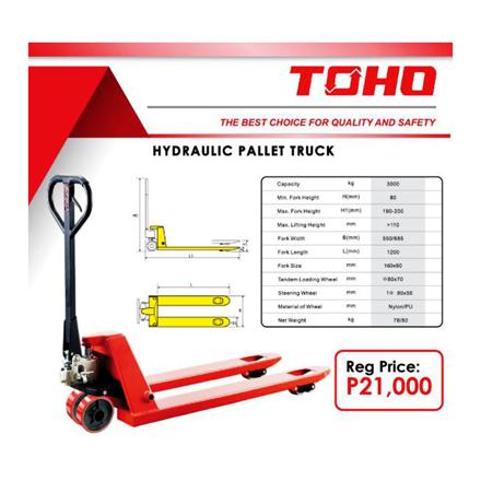 Toho Hydraulic Pallet Truck, TOH21 の画像