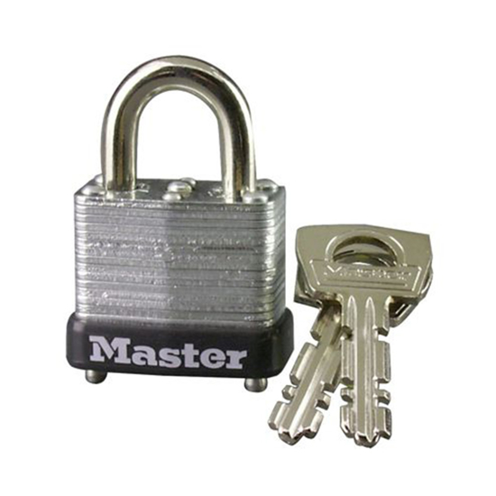 Picture of Master Lock 25MM 11MM Shackle Laminated Steel Padlock, MSP10D