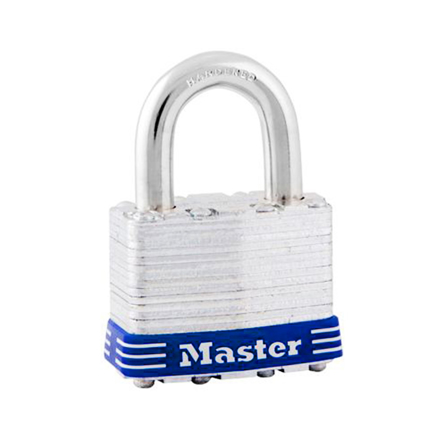 Master Lock 44MM 24MM Shackle Laminated Steel Padlock, MSP1D の画像