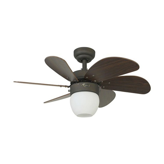 """Picture of Westinghouse Turbo Swirl 30"""" Oil Rubbed Bronze Ceiling Fan, WH72064"""