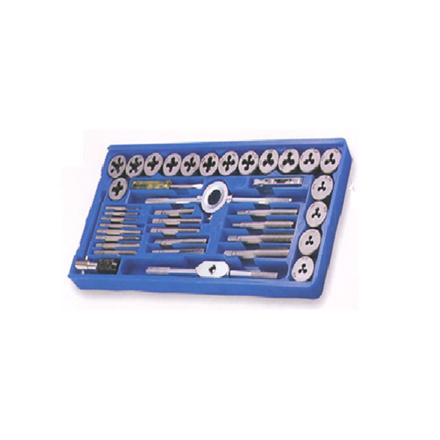 S-Ks Tools USA 40 Pcs. Tap & Die Set - Metric Combination of NC & NF, TD40PM の画像