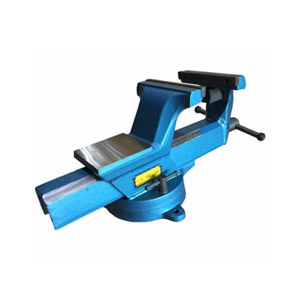 """S-Ks Tools USA Heavy Duty 4"""" Forged Steel Swivel Vise with Anvil (Blue/Silver), CT-202-4의 그림"""