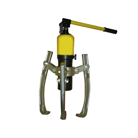 S-Ks Tools USA Heavy Duty 10 Tons 3 Arms Hydraulic Gear Puller (Black/Yellow), JMHHL-10 の画像