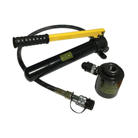 S-Ks Tools USA 11 Ton Hydraulic Knock Out Punch Driver Kit Hole Tool Hand Pump (Black/Yellow), JMSYK-8D의 그림