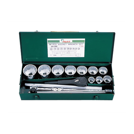 "Hans 1"" Drive 14 Pcs. Socket Wrench Set-Inches Size, 8614-2A の画像"