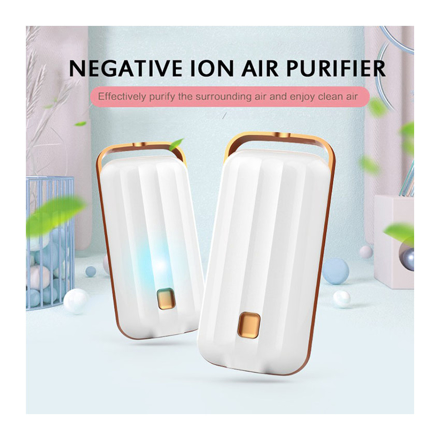 Anion Air Purifier Necklace Portable, Air Purifier Small Neck, Air Purifier Prevent PM2.5 Formaldehyde Necklace, UE04AIRF2 の画像