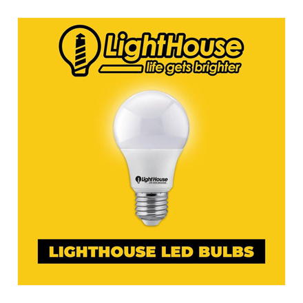 Lighthouse LED Bulb Warm 6W 110-265V 400 Lumens, LHP-45E27-6W-WW の画像