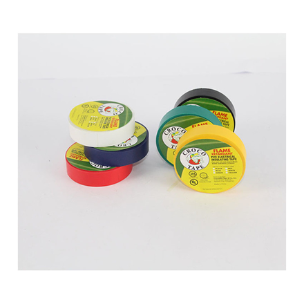 Croco Tape PVC Electrical Insulating Tape (Yellow, Blue, Red, Green), CROCO-ETAPE の画像