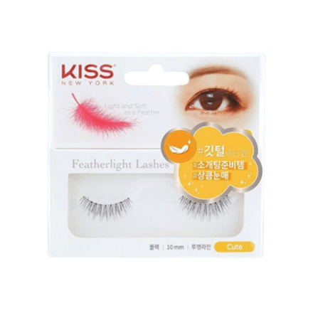 Kiss New York Featherlight Lashes (Cute, Lovely, Natural, Sexy), KFL08K の画像