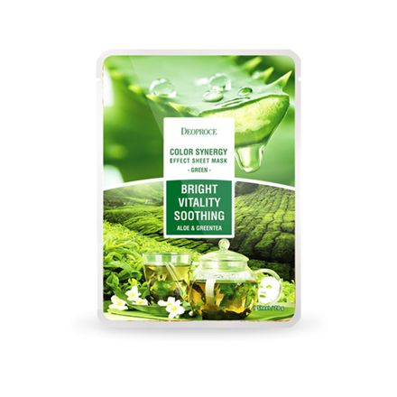 Picture of Deoproce Color Synergy Sheet Mask Bright Vitality Soothing (Green), 38054367