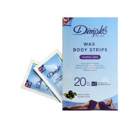 Dimples Wax Body Strips Normal Skin 20 Pcs, W901 の画像