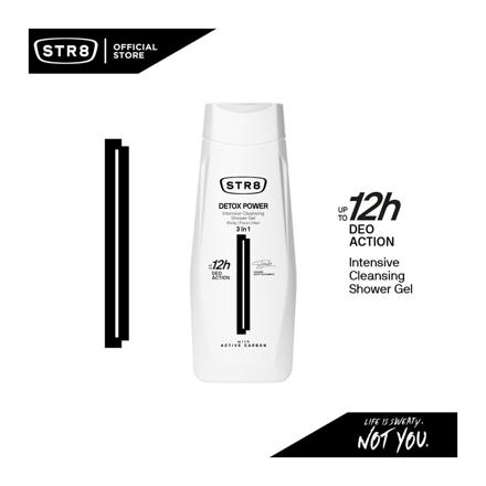 Str8 Shower Gel 400 ml Detox Power, 8571027208 の画像