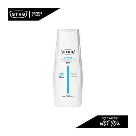 Str8 Shower Gel 400 ml Icy Cool, 8571027194 の画像