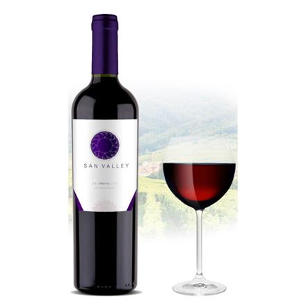 San Valley Merlot Chilean Red Wine 750 ml, SANVALLEYMERLOT の画像