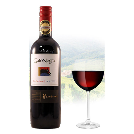 Gato Negro Cabernet & Merlot Chilean Red Wine 750 ml, GATONEGROCABERNET の画像